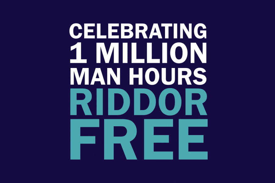 04-July-18: Bourne Group surpasses 1 million hours RIDDOR free