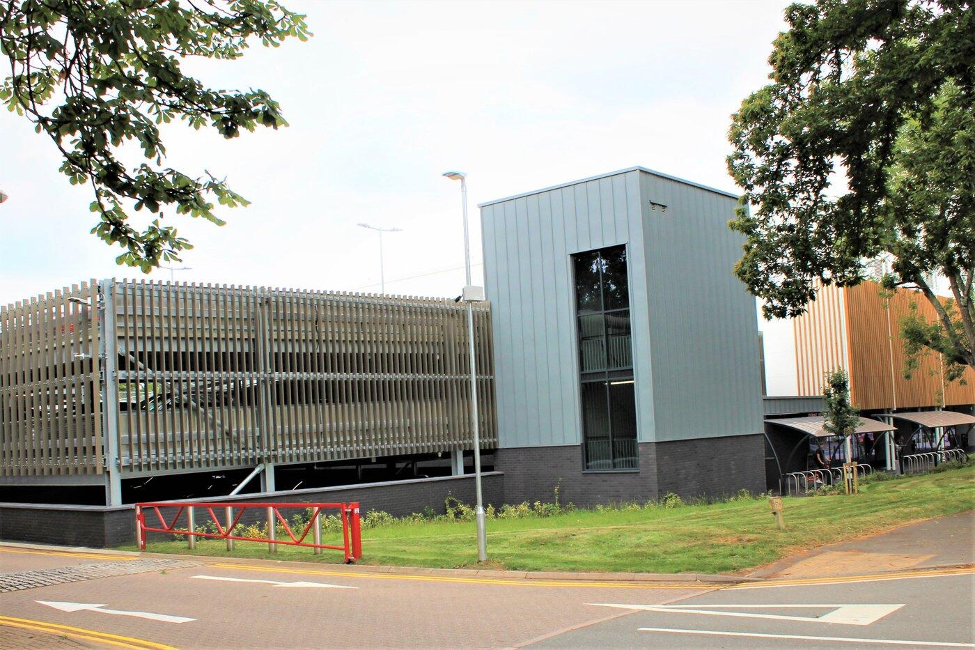 Places Leisure Centre multi storey car park designed and build by Bourne Parking