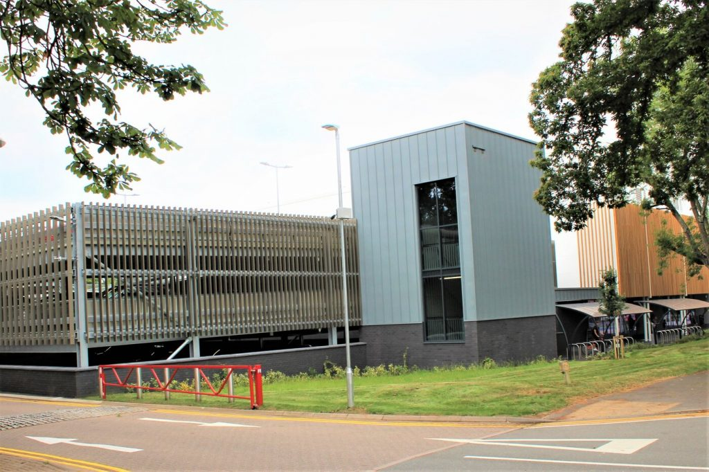 Places Leisure Centre Multi storey car park designed and built for Pellikaan by Bourne Parking, Bourne Group