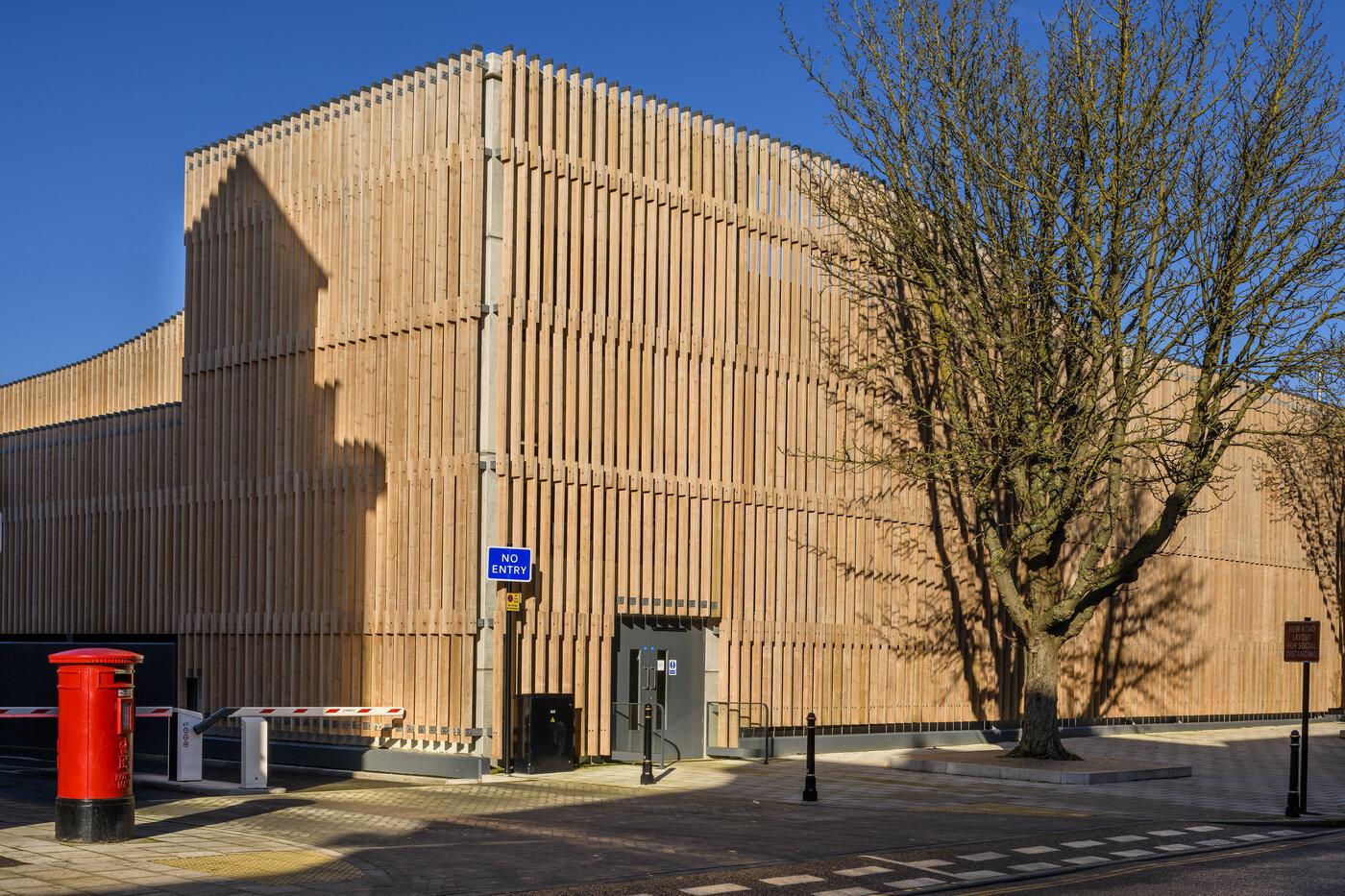 Canterbury West Station multi storey car park built by Bourne Parking